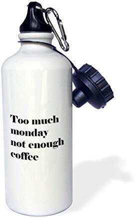 Queen54ferna te veel maandag niet genoeg koffie citaat aluminium sport waterfles wit wandelen Gym school camping waterfles voor mannen, vrouwen, kinderen