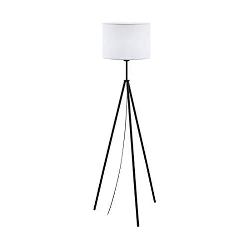 Vloerlamp CLARENZO zwart wit Ø34cm H: 144cm