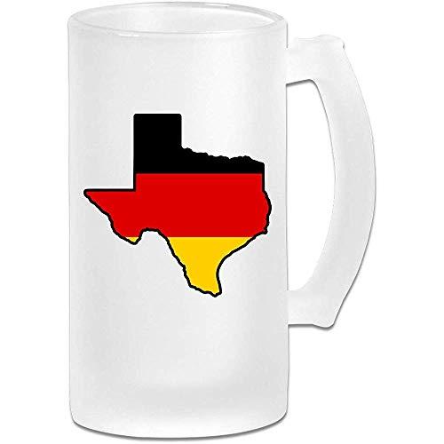 Jarra de cerveza Stein de cristal esmerilado de la bandera alemana de...
