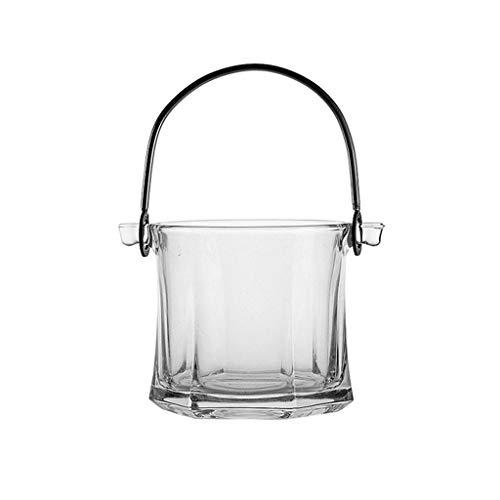 cubiteras para hielo Cubo de hielo de vidrio Cubo portátil Portátil Cubo de hielo Cubo de vino Cubo de vino Champagne Bucket Bebida Cubo ACTIVIDADES Y CAMPING VATIBLES Enfriador de botellas de vino