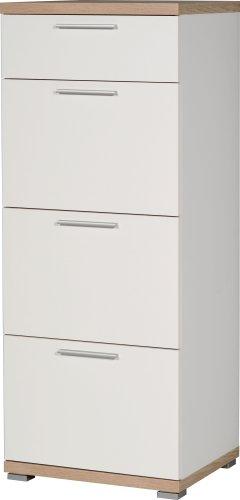 Germania 3203-178 Kommode GW-Top in Weiß/Absetzung Sonoma-Eiche-Nachbildung, 48 x 120 x 40 cm (BxHxT)
