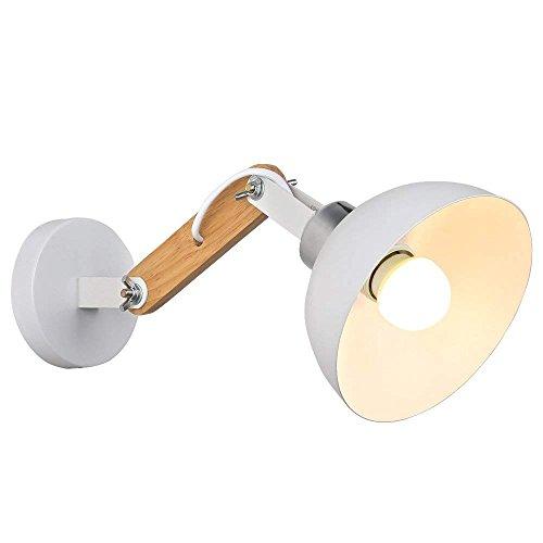 Lampade da Parete in Legno Lampada Moderna Luce E27 Stile Seimpe per Chevet Salon Staircase Corridor