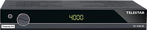 Telestar TD 1030 IR DVB-T2 HD / DVB-C2 Receiver mit Irdeto Entschlüsselung (inkl. 3 Monate Freenet TV, H.265/HEVC, HDMI, Scart, USB, LAN) schwarz