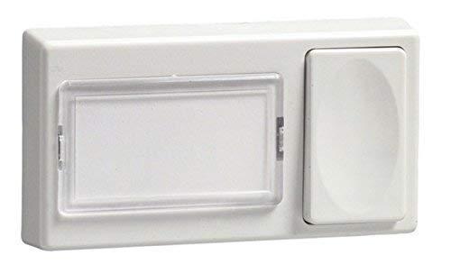 uniTEC Elektro 40806 uniTEC Klingeltaster, Kunststoff, 1-fach