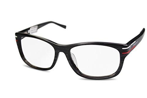TAG Heuer Unisex Kunststoff Brille TH0534 col. 003 schwarz grau