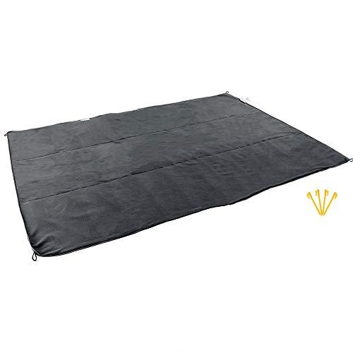 ZHX Tapis de Couverture de Pique-niquer imperméable à l'eau, Portable Pliable extérieur Compact Polaire Voyage Camping Tissu Sac-pour la Plage Camping voyageant sur l'herbe,Black,140 * 200cm
