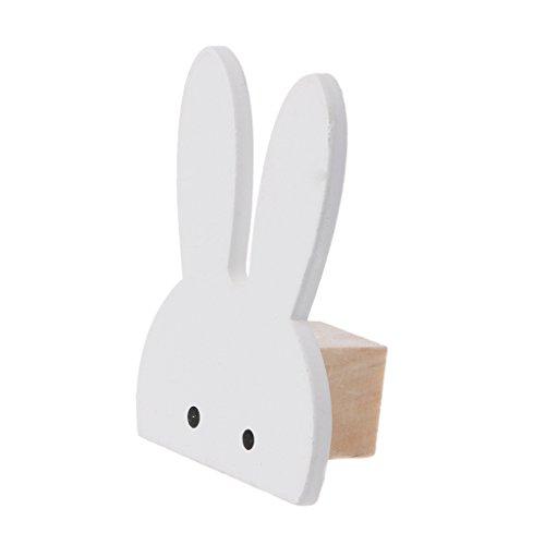 menitn gancho pared madera forma conejo para habitación Niños