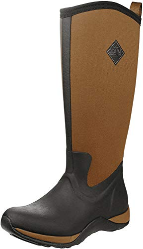 Muck Boots Damen Women's Arctic Adventure Gummistiefel, Schwarz (Black/tan), 43 EU