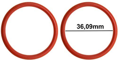 2x Dichtung für Jura Ena/Impressa/Giga Brühgruppe | O-Ring Ersatzteil zur Brüheinheit | Innenmaß: 36,09mm, Dicke: 3,53mm, Außenmaß: 43,15mm | Piebert®