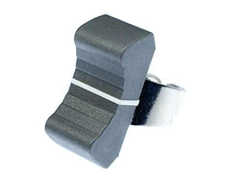 Miniblings Fader Ring - I Regler DJ Tontechniker Technik Mischpult Mixer grau - Handmade Modeschmuck I Fingerring mit Motiv I verstellbar one Size