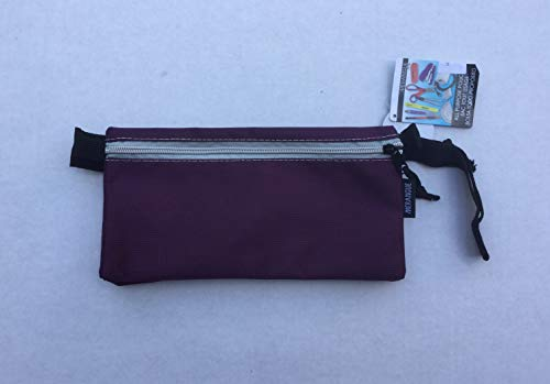 "Merangue Ballistic Double Pouch All Purpose Carry All ~ Plum (10.5"" x 5.5"")"