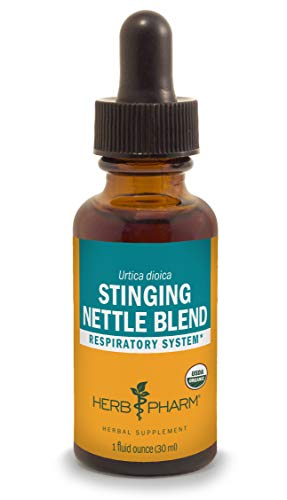 Herb Pharm Certified Organic Stinging Nettle Blend Liquid Extract, Organic Cane Alcohol, 1 Ounce