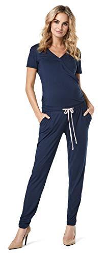 Noppies Jumpsuit nurs SS Olga Salopette Premaman, Blu (Dress Blues P093), 48 (Taglia Produttore: XL) Donna