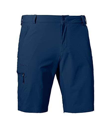 Schöffel Herren Shorts Folkstone vielseitige kurze Wanderhose mit verstellbarem Bund, Outdoor Hose mit praktischen Taschen, Dress Blue, 52
