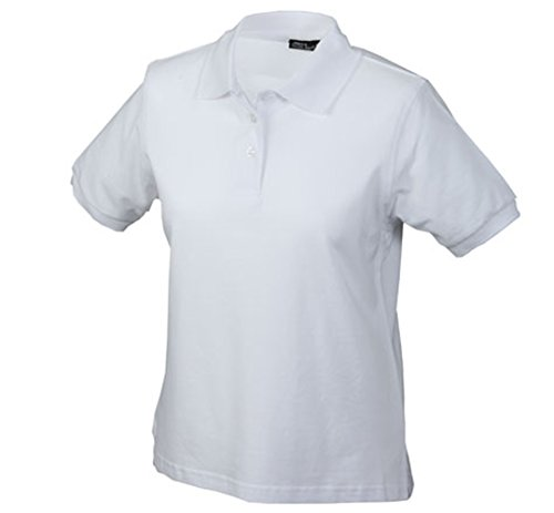 James & Nicholson Damen Ladies' Polo Poloshirt, Weiß (weiß White), Large