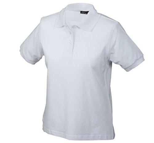 James & Nicholson Damen Ladies' Polo Poloshirt, Weiß (weiß White), Small