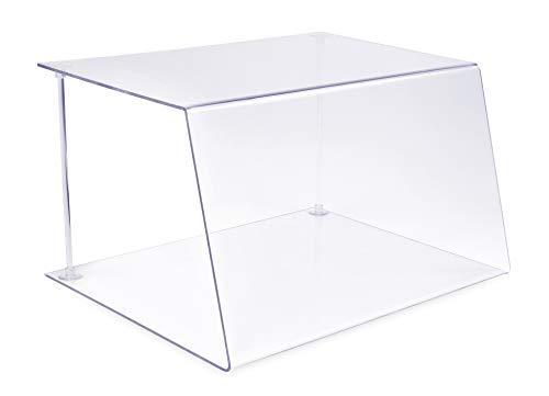 Cristal protector contra tos y saliva de A+H Kunststoffe para mostrador de establecimiento hostelero o vitrina de cocina, tipo 1, longitud 120cm,de PETG,cristal transparente, Stärke 6mm