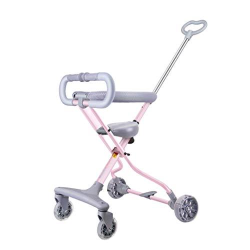 cochecito de bebé Cochecito de bebé Cochecito de niño de aluminio Cochecito plegable conveniente Cochecito de bebé for muñecas Carrito de cuatro ruedas Cochecitos negros Carriola ( Color : Pink )
