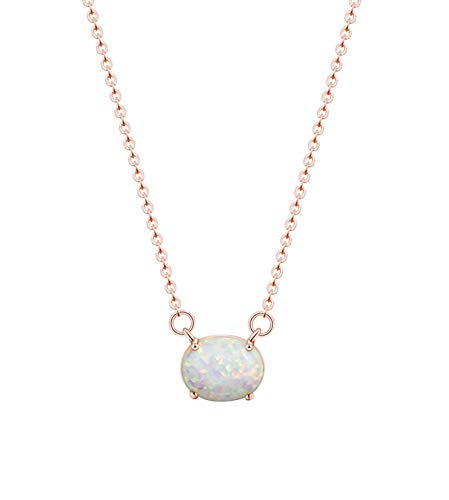 KristLand - 925 Silver Necklace Simple Style Natural Druzy Round Rainbow Stone Pendant...