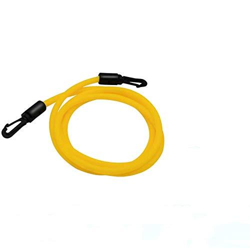 AmazeFan Swim Training Belts, Swim Training Leash, Swim Tether Stationary Swimming, Swim Harness Static Swimming Belt, Swim Bungee Cords Resistance Bands (Yellow, 2)