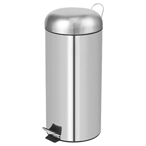 PEREL - HP100104 pedaalemmer, rond, 30 l capaciteit, 29 cm diameter x 69,5 cm hoog, Inox 176725