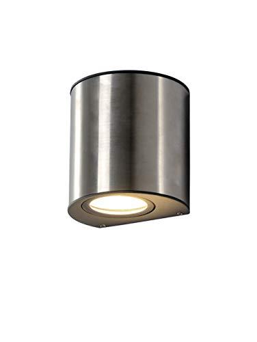 LUTEC buitenlamp ilumi, chroom, zilver, 8,5 x 9 x 9 cm