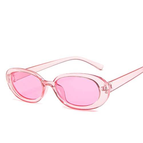 ShZyywrl Gafas De Sol Gafas De Sol Ovaladas Mujer Vintage Marco Redondo Blanco para Hombre Gafas De Sol Rosa
