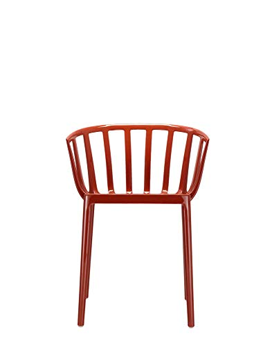 Kartell 5806 Sedia Venice, Policarbonato Colorato in Massa, Ruggine, 51 x 75 x 51 cm