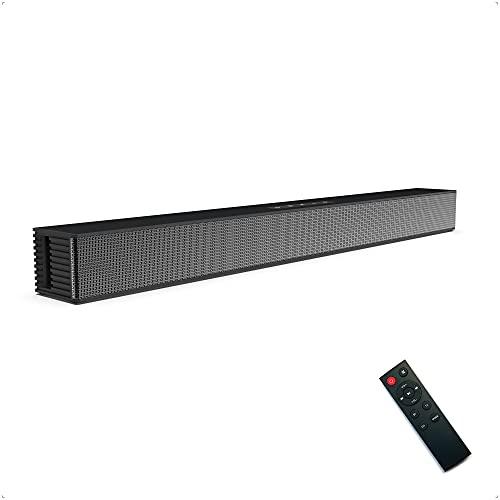 Las Barras de Sonido de Cine en casa Poesy, el Altavoz de TV con función de conexión Bluetooth 5.0, Compatible con teléfonos Inteligentes, tabletas, Esperar, se Pueden Colocar en Plano o en la Pared