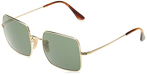 Ray-Ban Women's RB1971 Metal Square Sunglasses, Gold/Green, 54 mm