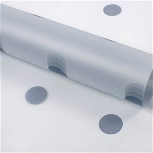 Miner 5pc pack dot frosted inpakpapier handgemaakt diy plakboek decoratie papier valentijn cadeau boeket inpakpapier, grijs