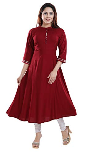 TIGYWIGY Women's Cotton Maternity Kurta/Easy Breast Feeding/Breastfeeding Kurti/Western Dress with...