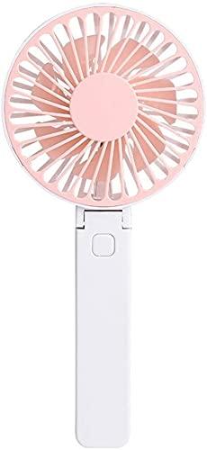 hwljxn Ventilador USB, Ventilador móvil portátil, Portátil Play Point Silent FLAN PEQUEÑA PEQUEÑA Ventilador USB Recargable DE USB Coole DE Air DE Air Mini Ventilador DE MENI (Color : Pink)