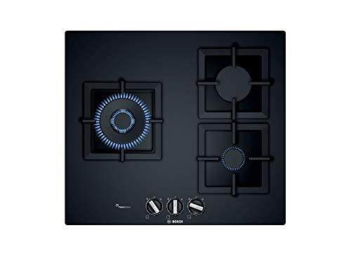 Bosch PPC6A6B20 - Placa de Gas, Serie 6, Cristal Templado, 60cm, Negro, 1000W
