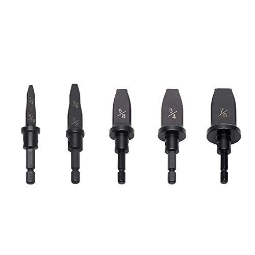 5pcs/Set 7 Diameters Swaging Tool Drill Bit Set, Flaring Tool Copper Pipe Swaging Tool Drill Bit Expander Set - 1/4',5/16',3/8',1/2',5/8',3/4',7/8'