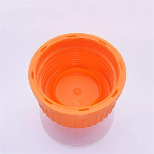 Wutingkong Frascos de laboratorio de Botella de reactivos marrones, con tapa de tornillo amarillo, vidrio de borosilicato 3.3, capacidad 100 ml, muestra de graduación Frascos de plástico. Ciencia de l