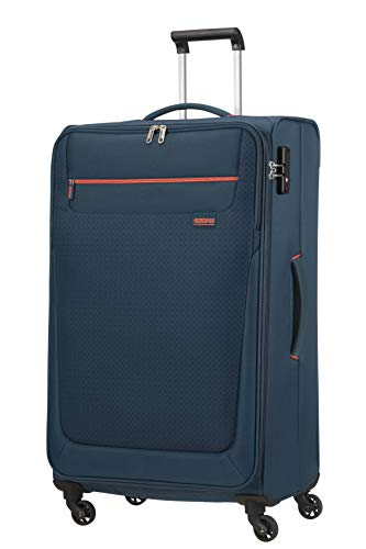 American Tourister Sunny South Luggage- Suitcase, Spinner L (79 cm - 103 L), Blau (Navy)