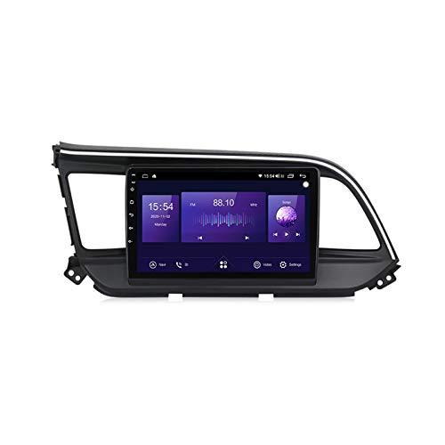 ADMLZQQ para Hyundai Elantra 2018-2020 Coche Radio Sistema Estéreo NAVI 9' Touch GPS Navigator MP5 Multimedia Player Radio Video Receptor Soporte DSP Carplay Mirror Link Screen Espejo,B 7862,6+128G