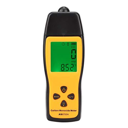 Detector de CO portátil, medidor de monóxido de Carbono, Detector de Fugas de Gas CO portátil, Detector de Alta precisión con Pantalla LCD Clara, 0~1000PPM