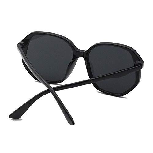 MGWA gafas de sol Europeo Y Moda Irregular Gran Borde Gafas De Sol Clásico Negro Al Aire Libre Conducción UV400 Unisex