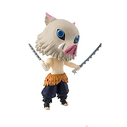 MaiQiLai Anime Figuarts Mini Demon Slayer Figura Hashibira Inosuke Q Versión 9cm Colección Anime Figuras de acción Juguetes para niños Kid Regalo Estatuas de Juguete