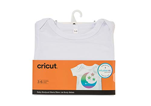 Cricut 2006826 Baby Bodysuit Blank, 3-6 Months Infusible Ink, White