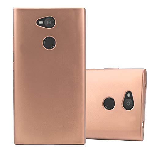 Cadorabo Hülle für Sony Xperia L2 in METALLIC ROSÉ Gold - Handyhülle aus flexiblem TPU Silikon - Silikonhülle Schutzhülle Ultra Slim Soft Back Cover Hülle Bumper