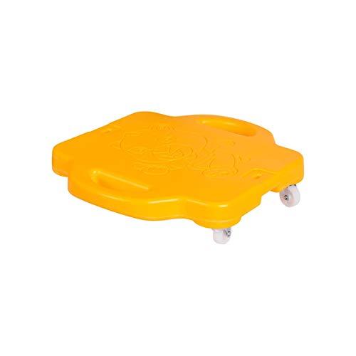 Huaxingda Tabla De Plástico para Patinete Manual Educativo con Asas De Seguridad Niños, Adolescentes, Adultos   PE, Clase De Gimnasio, Guardería, Desarrollo Preescolar, Juegos