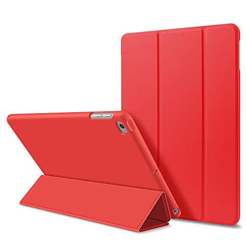 GOOJODOQ PU Leder Etui Hülle Tasche mit Ständer Funktion Compatible with iPad Air 1(rot)