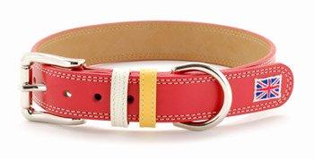 大型犬用首輪 大型犬 犬 首輪 犬の首輪 革 皮 おしゃれ かわいい 25mm幅 赤