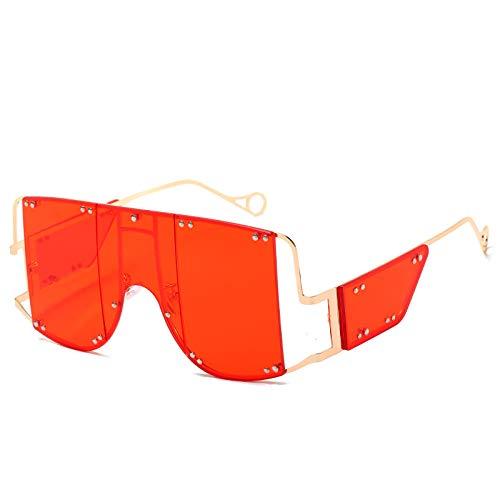 chuanglanja Gafas De Sol Wayfarer Gradients Party Gafas De Sol Llamativas Gafas De Sol De Escudo Cuadrado Mujeres Hombres Marco De Metal Pc Lens-Color-M