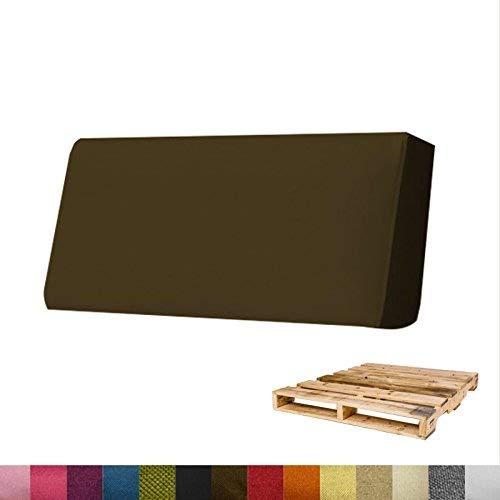 Arketicom Pallett-One Coussin Coussins Espalier pour Canape Euro Palette en Polyurethane haute densite' , Tissu Brun Melange' Polyester Coton, Convient pour interieur et exterieur couvert 120 cm larg x 30 cm haut x 15 epass 1000% Artisanat Italien.