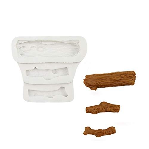 DJSK Baumstamm Silikonform Fondant Kuchen Dekorationswerkzeuge Silikonform Zuckerhandwerk Schokoladen Backwerkzeuge Kuchen Gumpaste Form