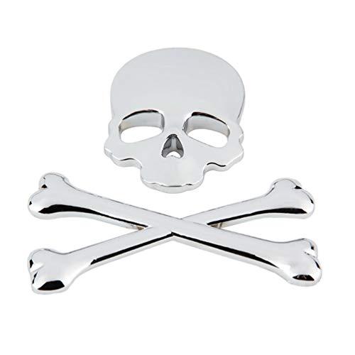 BESPORTBLE, stemma 3D in metallo cromato, per auto, parafango posteriore, adesivo universale per auto, camion, argento